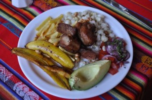 Traditional Ecuadorian Meal