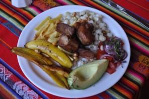 Traditional Ecuadorian Meal
