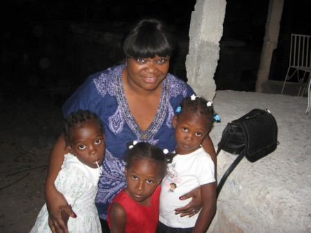 Sarah with Haitian Children