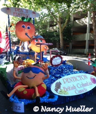 Seafair Penticton Peach Float