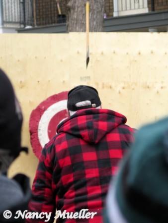 Quebec Carnival Lumberjack Ax Throwing