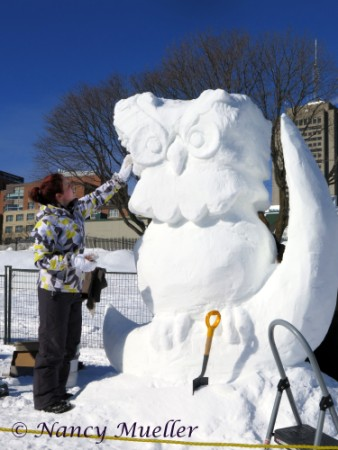 Quebec Winter Festival Snow Sculpture