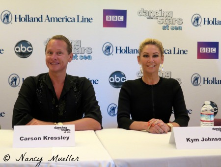 Carson Kressley and Kym Johnson