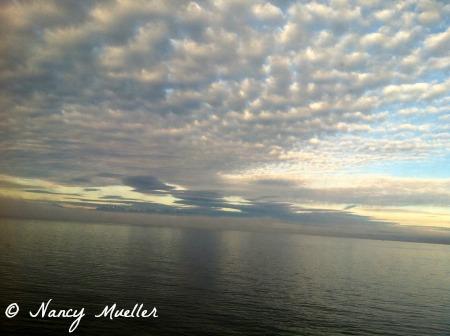 Gray-blue sky