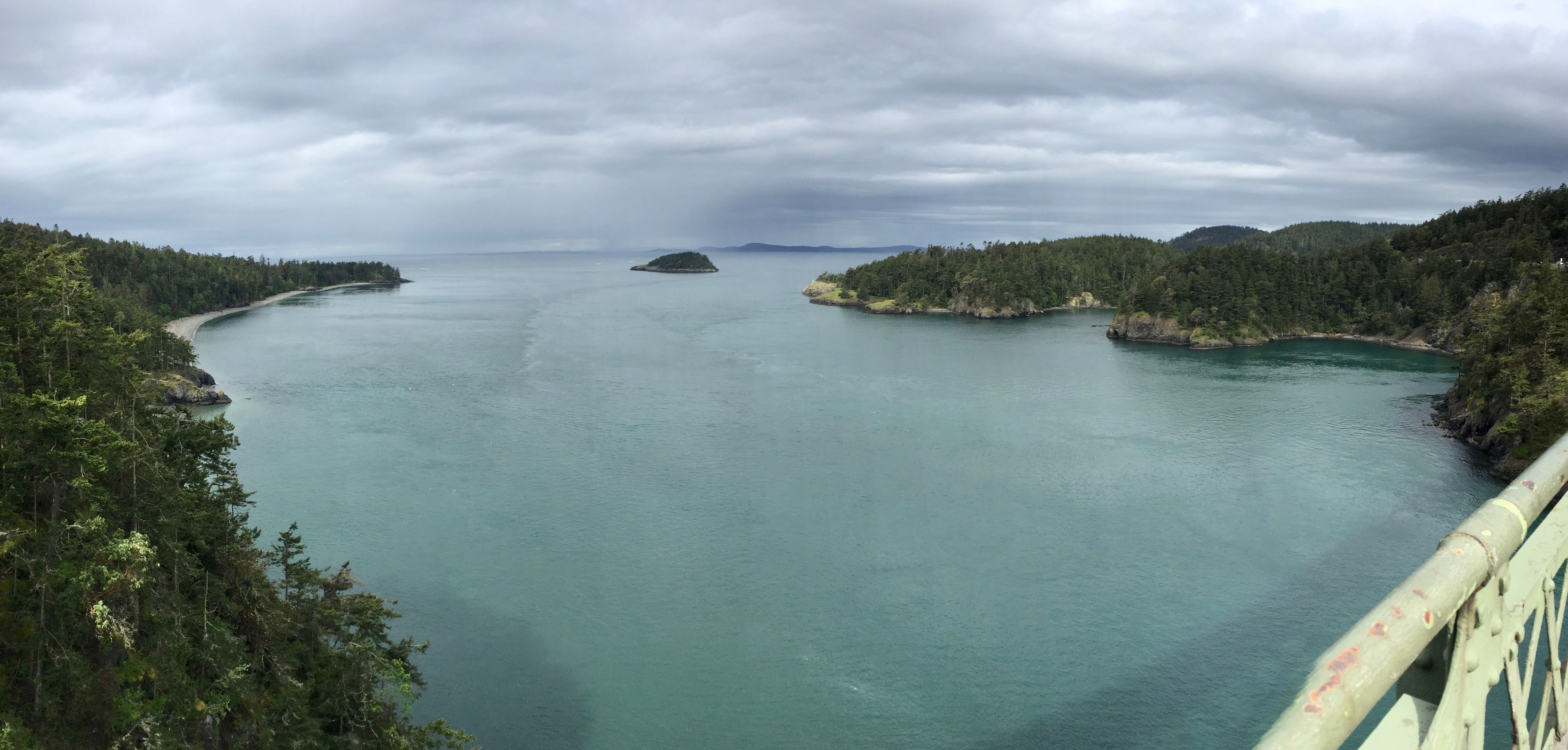 Weekend Getaway to Whidbey Island, View from Deception Pass Bridge