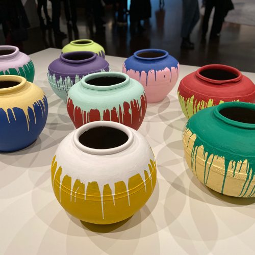 Colored Vases by Artist Ai Weiwei
